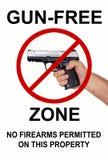 Fri zon för vapen, inga skjutvapen Royaltyfri Fotografi