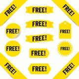 fria försäljningsetiketter royaltyfri illustrationer