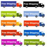 fria logoer som sänder lastbilen Royaltyfria Foton