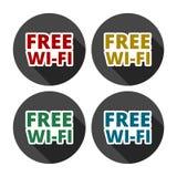 Fria symboler för färgrik wifi för affär eller kommersiellt bruk vektor illustrationer