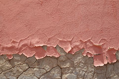 Friable peeling pink paint Stock Image