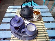Frialdad y té foto de archivo libre de regalías