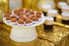Friandise avec des sucreries de truffe Photographie stock