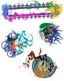 friareelementgrunge stock illustrationer