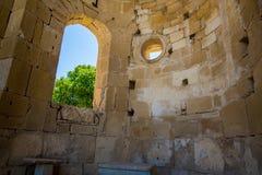 Friary монастыря в долине Messara на острове Крита в Греции Messara - самая большая равнина в Крите Стоковая Фотография