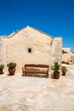 Friary монастыря в долине Messara на острове Крита в Греции Messara - самая большая равнина в Крите Стоковое Фото