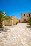 Friary монастыря в долине Messara на острове Крита в Греции Messara - самая большая равнина в Крите Стоковые Изображения