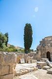 Friary монастыря в долине Messara на острове Крита в Греции Messara - самая большая равнина в Крите стоковые фотографии rf