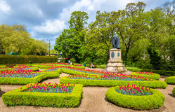 Friary Gardens with a statue of the 3rd Marquess of Bute. Gardiff, Wales Stock Photography