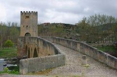 Frias中世纪村庄,布尔戈斯,西班牙 免版税图库摄影