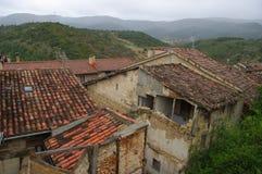 Frias中世纪村庄,布尔戈斯,西班牙 图库摄影