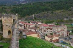 Frias中世纪村庄,布尔戈斯,西班牙 免版税库存图片