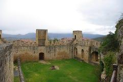 Frias中世纪村庄,布尔戈斯,西班牙 库存图片