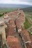 Frias中世纪村庄,布尔戈斯,西班牙 库存照片