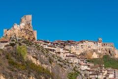Frias średniowieczna wioska w Burgos, Castilla y Leon, Hiszpania zdjęcie stock
