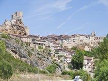 Frias średniowieczny miasteczko Burgos prowincja, Hiszpania zdjęcie royalty free