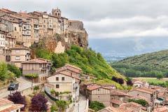 Frias - średniowieczny miasteczko w prowinci Burgos zdjęcia royalty free