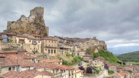 Frias - historic medieval town stock footage