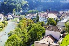 Fribourg, ландшафт зеленых зон Стоковые Изображения
