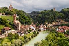 Fribourg Auge område royaltyfri fotografi