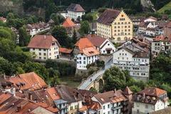 Fribourg Basse-Ville Photo libre de droits