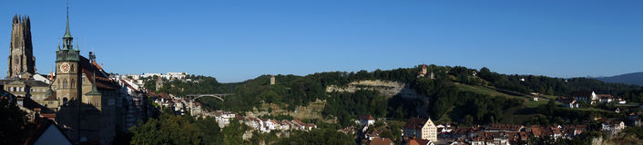 Fribourg panorama Stock Images