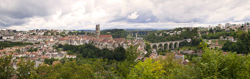 Fribourg Panorama, Switzerland Stock Photos