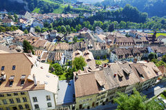 Fribourg, Roofs of the city Stock Photography