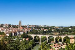 Fribourg skyline Royalty Free Stock Photos