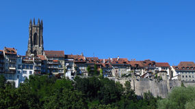 Fribourg skyline, Switzerland Royalty Free Stock Image