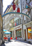 Fribourg street, Switzerland Royalty Free Stock Photography