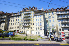 Fribourg, urban scene of architecture Royalty Free Stock Photography