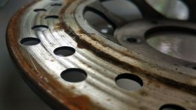 Fricção do freio de disco Imagens de Stock