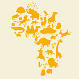 Frican animals silhouettes set. Vector illustration Stock Photo