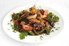 Fricasee цыпленка с овощами Стоковое Изображение RF