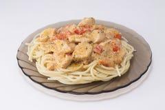 Fricassée avec des spaghetti Photographie stock libre de droits