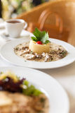 Fricassee του μοσχαρίσιου κρέατος σε μια ήπια σάλτσα κρέμας Στοκ Εικόνα