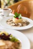 Fricassee телятины в слабом cream соусе Стоковое Изображение