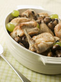 Fricassee of Chicken  Mushrooms and Grapes Royalty Free Stock Images