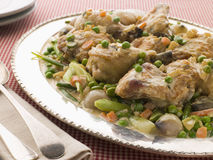 Fricassee Of Chicken With Spring Vegetables Stock Photo