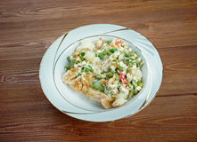 Fricassee of white fish Royalty Free Stock Images