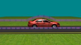 Fricción del aire en el coche móvil libre illustration