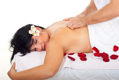 Friction back massage type royalty free stock photography