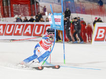 Frida Hansdotter skiing at a slalom event Royalty Free Stock Photo