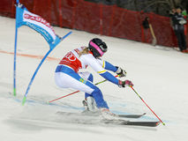 Frida Hansdotter skiing at a slalom event Stock Images
