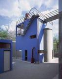 Frida Kahlo家工作室博物馆 免版税图库摄影