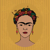Frida Kahlo Obraz Royalty Free