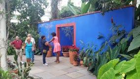 Frida Kahlo Art trädgård, livdel 2 12 Arkivfoto