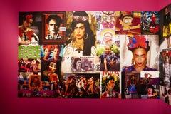 Frida Kahlo die Knallikone lizenzfreie stockfotos