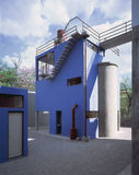 Frida Kahlo Hausstudio Museum Lizenzfreie Stockfotografie